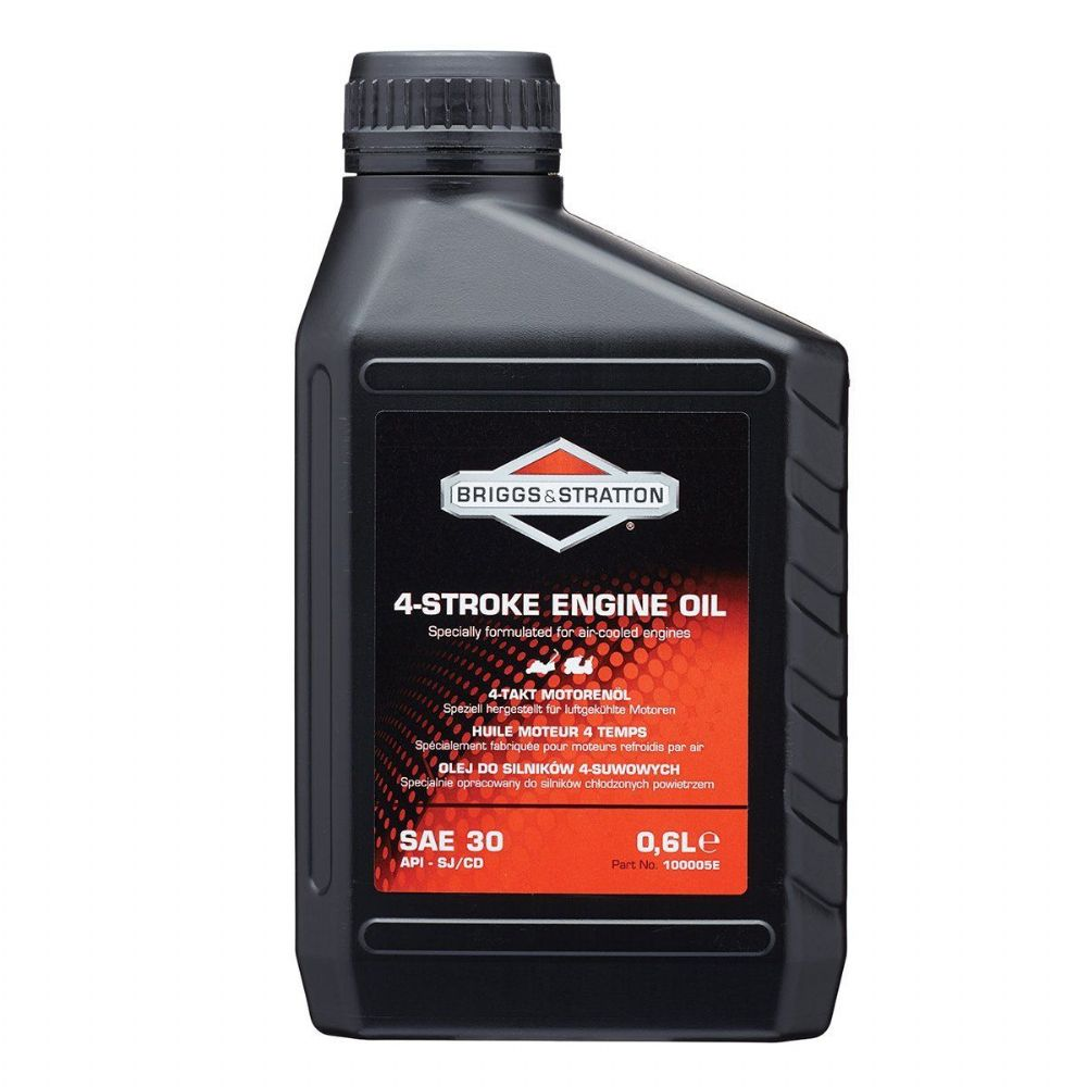 100005E Briggs & Stratton Lawnmower Oil 0.6L Husqvarna Castel Garden Honda Mowers